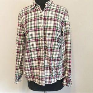 Tommy Hilfiger Plaid Western Button Up Shirt